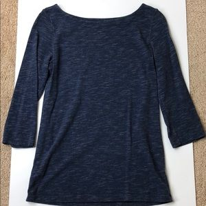 LOFT Navy Blue Boat Neck Shirt
